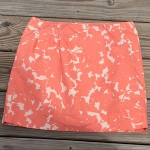 J. Crew Peach floral Mini Skirt